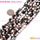 Jewelry Making 6mm round faceted fire agate gemstone beads strand 15""