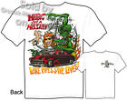 Rat Fink T Shirt Merc On A Mission 49 50 51 Mercury Ed Roth Tee Sz M L XL 2XL 3X