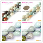 "New Drop Mixed-color Amazonite GemstoneJewelry Making Beads Strand 15""sd3044-v"