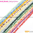 """jewelry making 6-7mm freeform white purple pink red freshwater pearl beads 15"""""""