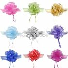 20 Organza 50mm Pull Bow Striped Ribbons Wedding Party Florist Pew Puff Giftwrap