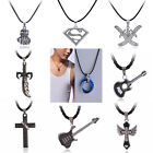 Fashion HipHop Cool Men Boys Pendant Necklace +Cord Stainless Steel Top 9 Styles
