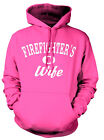 FIREFIGHTER'S WIFE SWEATSHIRT HOODY.  PINK OR BLUE Firefighter's Wife Sweatshirt