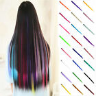 20''  Long Sexy Clip In Hair Extensions Color Straight Synthetic Remy Hair
