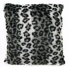 Fi709a Gray Leopard Wild Cat Thick Faux Fur Cushion Cover/Pillow Case*Custom Siz