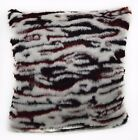 Fi711a Black Red Tiger/Zebra Thick Faux Fur Cushion Cover/Pillow Case*Custom Siz
