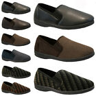 NEW MENS COMFORT FLAT WARM CASUAL SLIPPERS SHOES MULES SLIP ON DRIVING WINTER