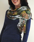 eco silk modal oversized shawl wrap scarf Floral Naturally Knotty green purple
