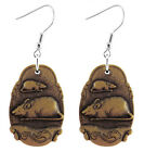 A077 Cute Rat Earrings U pick iron or Stainless Steel hook&circle New Arrive