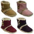 LADIES COOLERS COMFORT FUR WARM SNUGG WINTER ANKLE SLIPPERS SHOES MULES BOOT