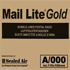 Gold Mail Lite Sealed Air ~ Padded Postal Envelopes / Bags ~ A/000 110 x 160mm