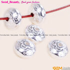 10pcs Tibetan Silver Jewelry Making Rondelle Heshi Spacer Beads Seed_beauty