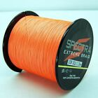 100M 300M 500M 1000M Orange 100%PE 4STRANDS  DYNEEMA SPECTRA FISHING BRAID LINE