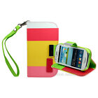MULTI STRIPED PU LEATHER WALLET CASE COVER FOR THE SAMSUNG GALAXY S3 MINI i8190