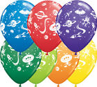 "Qualatex Aliens & Space Ships 11"" Helium Quality Bright Colour Party Balloons"