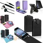 Color Dot Wallet Flip Leather Skin Cover Case+Handsfree Headset For iPod Touch 4