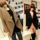 Europ Womens Wide Lapel  Thicken Woolen Coat Jacket Slim Outerwear Overcoat
