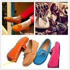 New Style Women's Gommino Casual Suede Flats Leather Shoes Driving Shoes Slip On