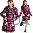 SWEET PUNK Lolita RABBIT POCKET 81130 Pink LONG JACKET COAT S-L