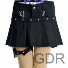 PUNK Lolita NANA PLEATED PANTIES COVER 61273 BLACK SKIRT S-L
