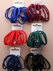 18 BACK to SCHOOL Thick & Thin Hair Elastics School Colours Hairbands Bobbles