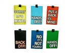 Funky Slogan Bright Rubber Luggage Tag Suitcase Bag Address Label Travel