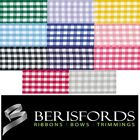 Berisfords Ribbons Polyester Traditional Gingham 10mm or 15mm, 3 Metres, 7391