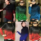 Stylish Colorful Soft Cashmere Blend Turtleneck Women's Bottoming Shirt Knitwear