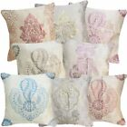8+ Colors Emboridered Metalic Damask Cotton Blend Cushion Cover/Pillow Case Size