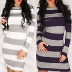 Women's Soft Knitted Off the Shoulder Sweater Dress - S/M, M/L