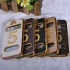 Trendy Luxury Flip Faux Leather Hard Case Cover Pouch Protect For iPhone 5 5G 5S