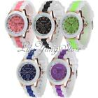 Chic Geneva Women Girl Silicone Jelly Band Quartz Analog Sports Wrist Watch Gift