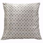 vc04a Olive Gold Silver Checker Dot on Beige Thick Cotton Blend Cushion Cover