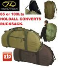 65/100L HIGHLANDER LOADER =4 WAY CARRY HOLDALL CARGO KIT BAG CONVERTS RUCKSACK