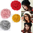 Hot Women Lady Winter Knit Wool Hat Beanie Crochet Warm Pumpkin Ball Cap Beret