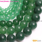 "Round Green Aventurine Stone Beads For Jewelry Making 15"" Wholesale Beads Strand"