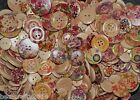 25/50/100 ASSORTED PATTERN NATURAL WOOD BUTTONS#15/20/25/30MM#CARD MAKING/CRAFTS