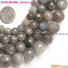 Jewelry Making round faceted labradorite gemstone Loose beads strand 15""