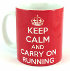 NEW KEEP CALM AND CARRY ON RUNNING GIFT MUG CUP PRESENT RUNNER FITNESS RUN