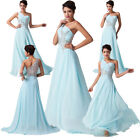 SEXY LONG Chiffon One shoulder Wedding Ball Gown Bridesmaids Evening Party Dress