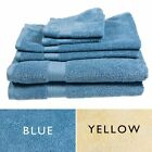 6pc Bathroom Towel Set 100% Supima Cotton 3 Sizes Hand Face Washcloth Soft Home