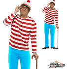 Adult Mens Wheres Wally Fancy Dress Costume Outfit
