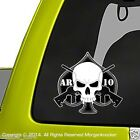 AR10 Skull Decal - 2 Pack - m4 m16 .223 5.56 nato Military rifle sticker DC1103
