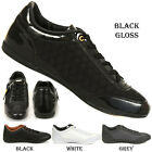 MENS CROSSHATCH LATCHFORD LOW QUILTED LACE UP TRAINERS PUMPS SMART SCHOOL SHOES