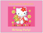 20  HELLO KITTY Childs Birthday PARTY  Postcards or Flat Cards Env Invitations