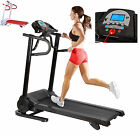 12km Adjustable Incline Treadmill Motorised Running Machine + Speakers Blue LCD