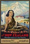 T41 Vintage Visit New Zealand Travel Poster Re-Print A1/A2/A3/A4