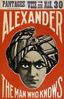 M37 Vintage Alexander Man Who Knows Mind Reader Magic Theatre Poster A1/A2/A3/A4