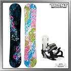 Trans FE Girl Fullrocker black Damen Snowboard Set mit Elfgen Eco Bindung black