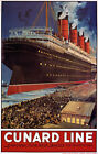 TX148 Vintage Cunard Line Liverpool-New York Cruise Travel Poster A2/A3/A4